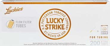 Lucky Strike Flow Filter Zigarettenhülsen 200Stk