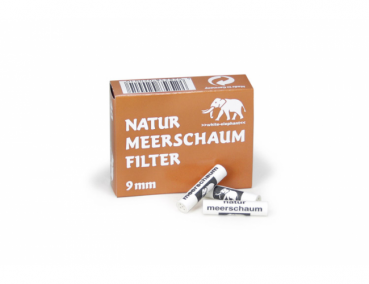 White Elephant Naturmeerschaumfilter 9mm - 40Stk